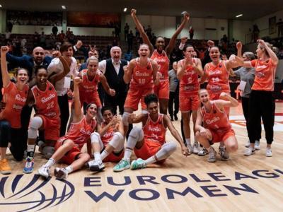 Les jugadores de l'Schio celebrant el títol