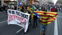 Manifestació pel centre de Barcelona