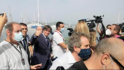Carles Puigdemont, aquest dissabte a l'Alguer