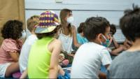 Alumnes en una escola de Mataró