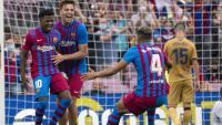 Ansu Fati, el gran protagonista de la tarda al Camp Nou, després de marcar el seu gol