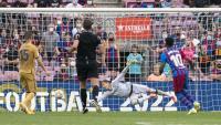 Ansu Fati torna a jugar 323 dies després i seu va ser el gol que tancava la golejada