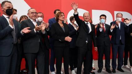 Els membres de l'SPD la nit electoral