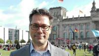 Peter-Alberto Behrens, divendres passat davant del Bundestag, a Berlín