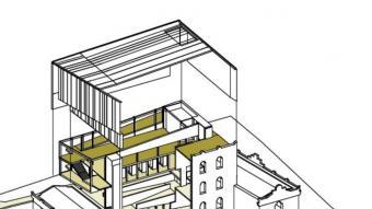 Detall del disseny del projecte de la Casa Walter Benjamin, de Pigem-Falgueras