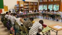 Un grup de primària de l'Institut Escola d'Oliana