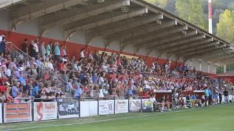 Una imatge de la tribuna del municipal d'Olot