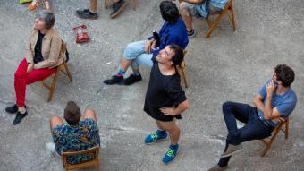 Quim Bigas preveu dues funcions a Ca n'Anglada de 'La lista' , i una tercera a  la plaça Vella.