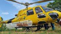 Durant l'estiu, els Pompièrs d'Aran han disposat d'aquest helicòpter per poder fer rescats d'emergència