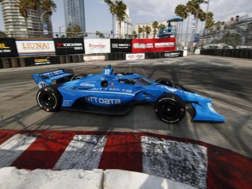 Àlex Palou en els entrenaments del GP de Long Beach