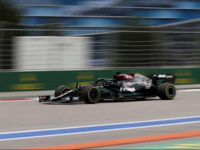 Lewis Hamilton durant la cursa