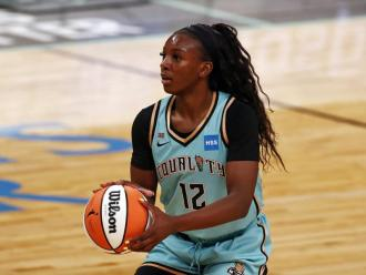 Michaela Onyenwere, en un partit amb les Liberty.