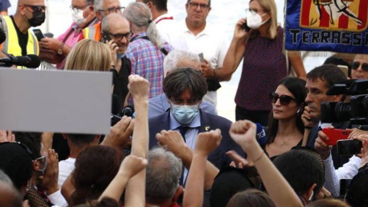 El president Carles Puigdemont, a l'Alguer aquest dissabte al matí