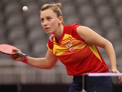 Gàlia Dvorak , en un partit de l'europeu per equips