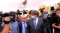 Puigdemont i Boye sortint del tribunal de Sàsser, el 4 d'octubre