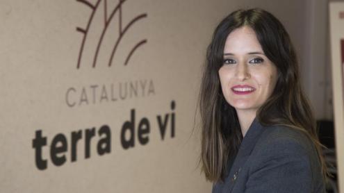 <b>Alba Balcells, </b>a la seu de l'Institut Català de la Vinya i el Vi, a Vilafranca del Penedès