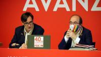Salvador Illa i Miquel Iceta, aquest dissabte al Congrés del PSOE