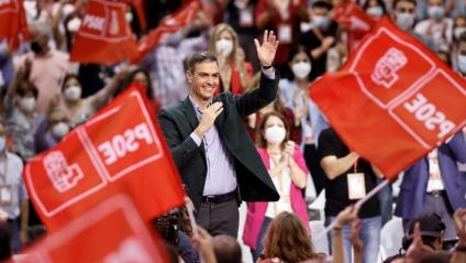El president espanyol, Pedro Sánchez, en la cloenda del Congrés Federal del PSOE