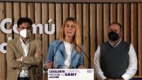 Albiach i el diputat al Congrés Jaume Asens, ahir en una roda de premsa en què van parlar del pressupost estatal