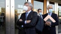 Els dos acusats arribant a l'Audiència Provincial de Castelló