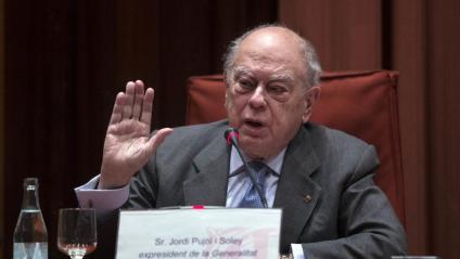 L'expresident Pujol , en la comissió de Frau Fiscal al Parlament, el 2015