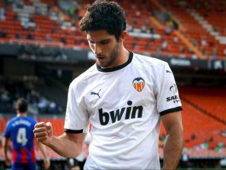 Gonçalo Guedes celebra un gol