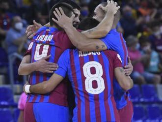 Els jugadors, celebrant un del gols.