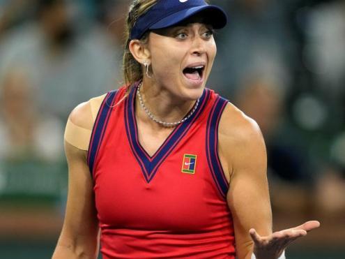 Paula Badosa en la semifinal d'Indian Wells