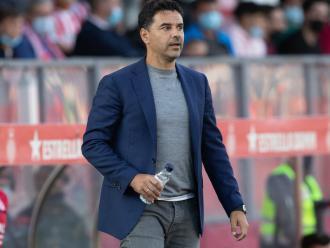 Míchel Sánchez, durant el partit d'ahir