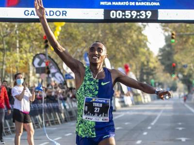 Haftu Teklu , el vencedor amb un nou rècord del circuit