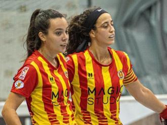 Celebració del Manlleu en un dels partits de la lliga catalana