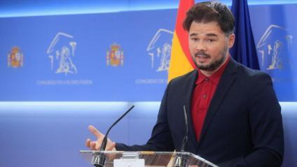 El portaveu d'ERC al Congrés, Gabriel Rufián