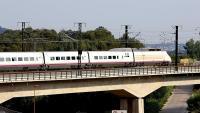 Un comboi de l'AVE circula pel tram afectat per la licitació del contracte de serveis de manteniment