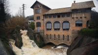 Imatge de la central hidroelèctrica de Berenguer a Bescanó