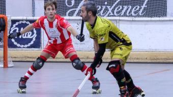 Xavi Costa, en el partit contra el Girona.
