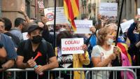 Una de les protestes contra Colau en els últims pregons de festa major de Barcelona