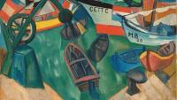 'Angle del port' (1917), una de les obres de Lagar que s'exposen a Girona
