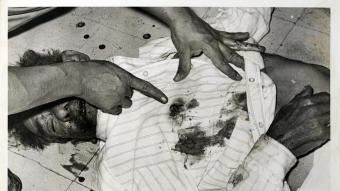 """Una de les imatges de l'arxiu de la revista """"Alerta"""", base del projecte de Joan Fontcuberta."""