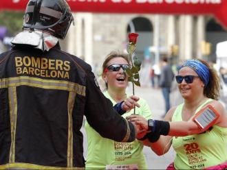 La Cursa dels Bombers de Barcelona del 2018 es va disputar un 22 d'abril, el dia abans de Sant Jordi