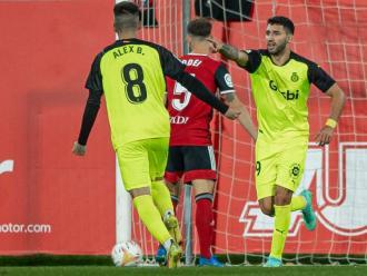 Nahuel dedica el seu gol a Samu Saiz, assistent de luxe en el 0-1 a Anduva
