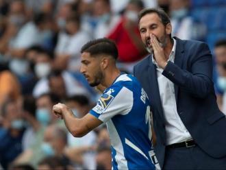 Vicente Moreno, en un partit d'aquesta temporada