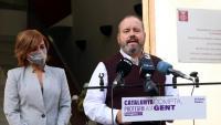 Campos i Mena ahir demanant des de Montcada el sí d'ERC al pressupost