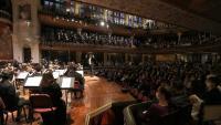 Un moment del concert d'ahir al Palau de la Música.