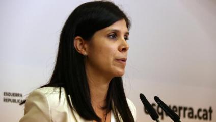 La portaveu d'ERC, Marta Vilalta, en roda de premsa a la seu dels republicans