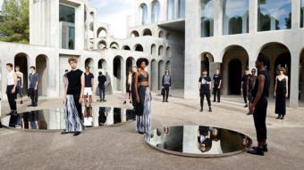Imatge de la col·lecció del dissenyador Eñaut en la 080 Barcelona Fashion