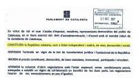 E text de la declaració llegida a la cambra catalana.