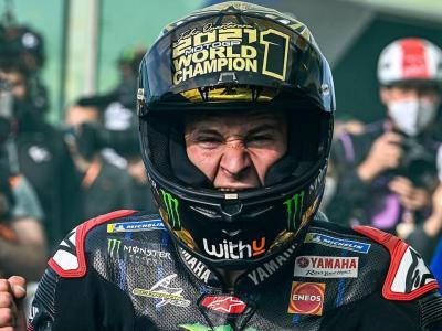 Fabio Quartararo amb un cas especial de campió mundial