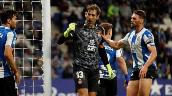 Diego López, heroi avui al RCDE Stadium.