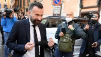 Alessandro Zan, diputat del PD i promotor de la llei bloquejada, ahir al voltant del Senat italià