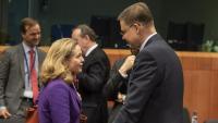 Calviñi i Dombrovskis en una imatge d'arxiu